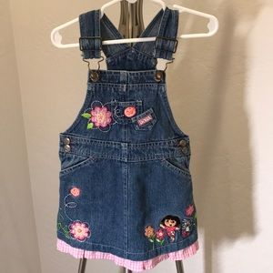 Nick Jr Dora the Explorer Denim Overall Dress